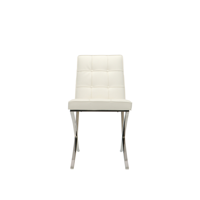 Barcelona chair Barcelona Dining Chairs Premium White - set of 2