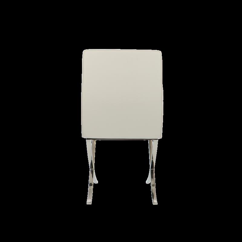 Barcelona chair Barcelona Esszimmerstühle Premium Weiß (zweimal)