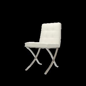 Chaise Barcelona Premium Blanc (2x)