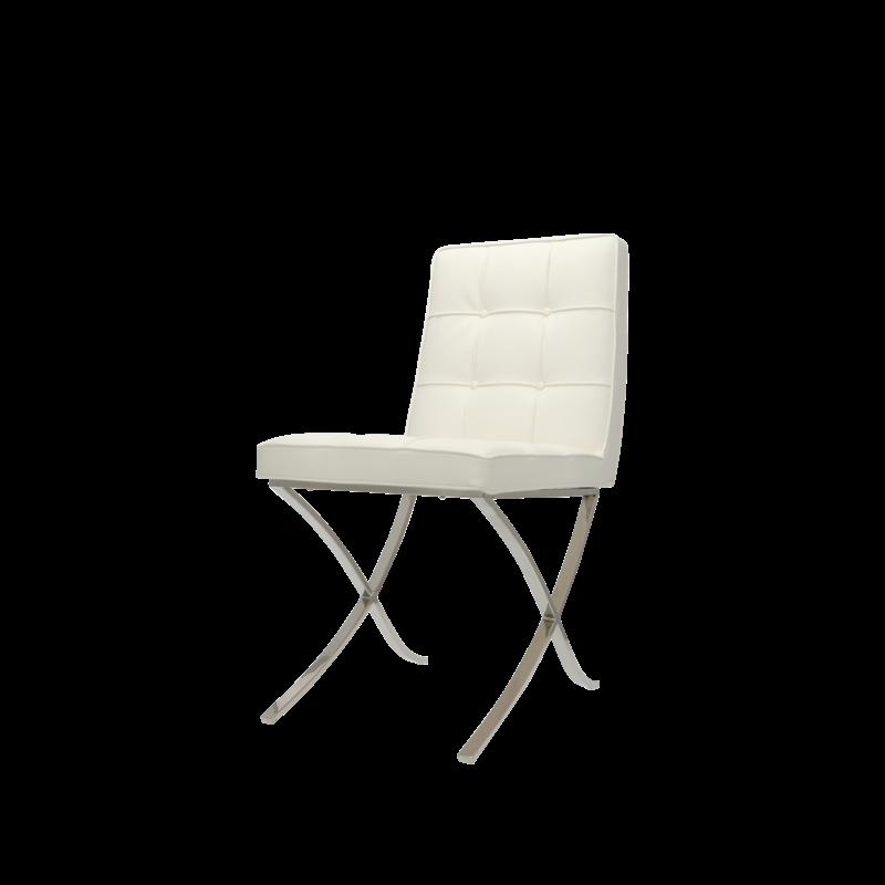 Barcelona chair Barcelona Spisestole Premium Hvid (2 x)