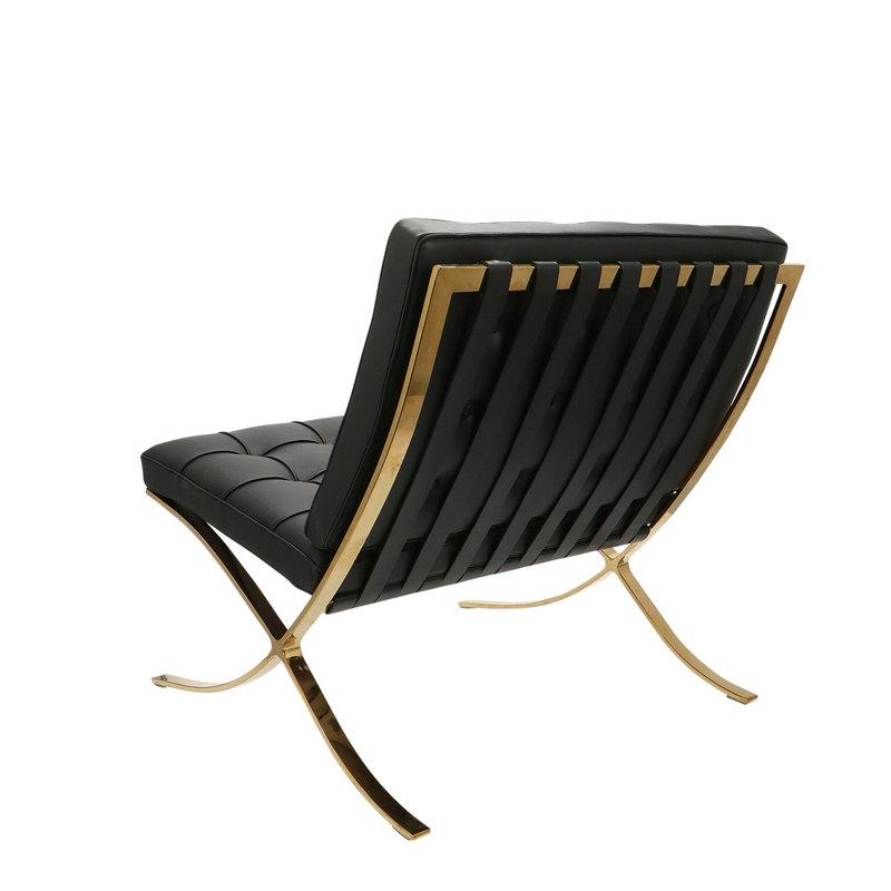 Barcelona chair Barcelona Stol Premium Gold Edition Sort