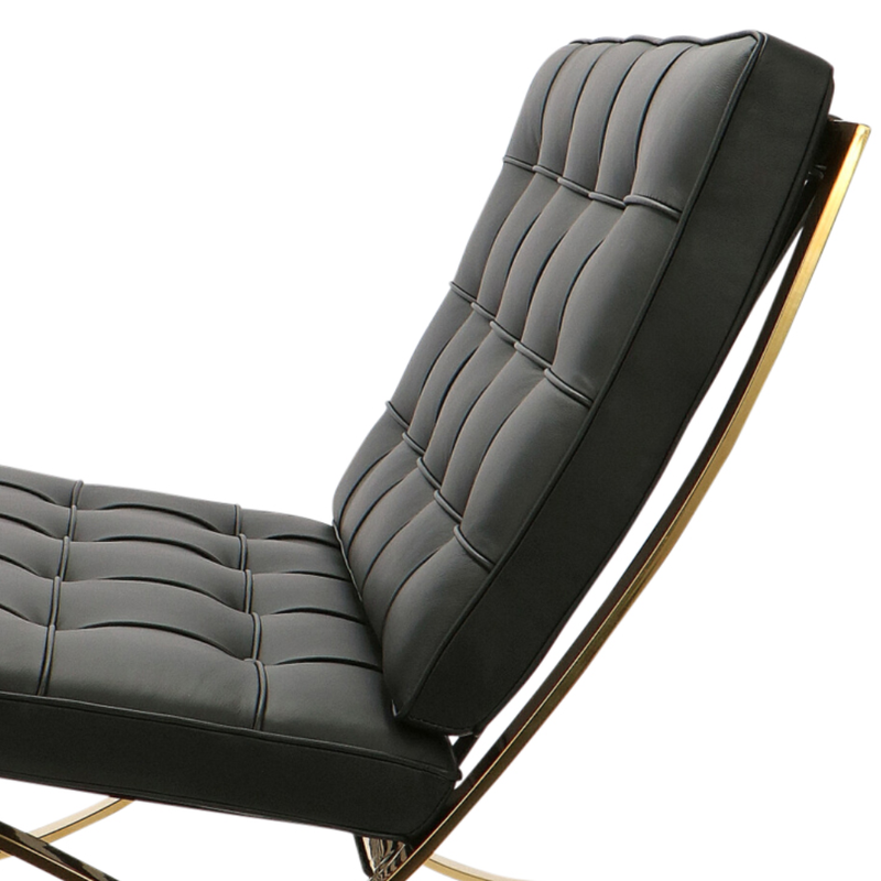 Barcelona chair Barcelona Chair Premium Gold Edition Black