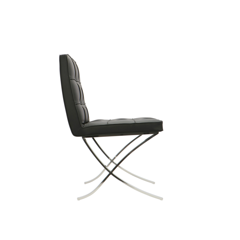 Barcelona chair Barcelona Dining Chairs Premium Black - set of 2