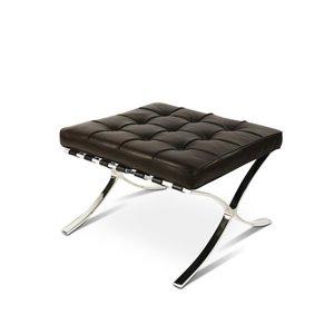 Barcelona Chair Ottoman Premium Brown