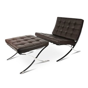 Pavilion chair Pavilion Fåtölj Ottoman Premium Brun