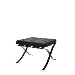 Barcelona chair Barcelona Stol Ottoman Premium All-Black