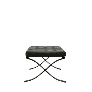 Barcelona chair Barcelona Chair Ottoman Premium All-Black