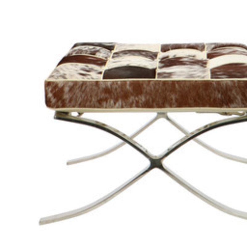 Pavilion chair Pavilion chair ottoman cowhide brown & white