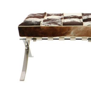 Pavilion chair Pavilion chair ottoman kohud brun & vit