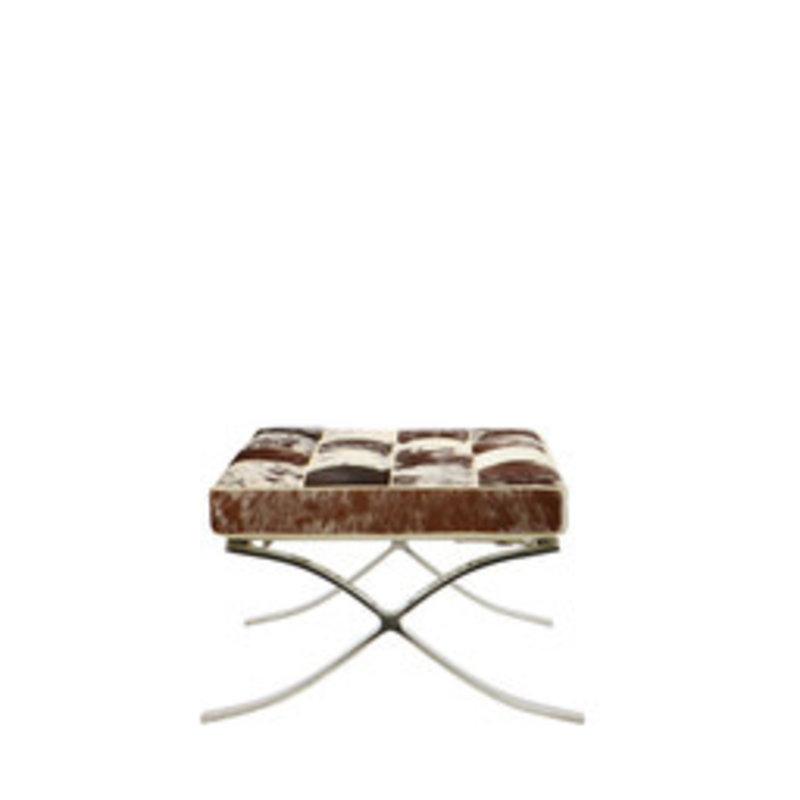 Pavilion chair Chaise Pavilion ottoman cuir de vachette noir & blanc