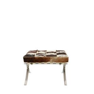 Pavilion chair Pavilion chair ottoman kohud svart & vit