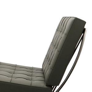 Pavilion chair Chaise Pavilion Gris & ottoman