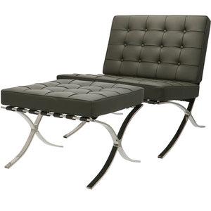 Pavilion Chair Grau  & ottoman