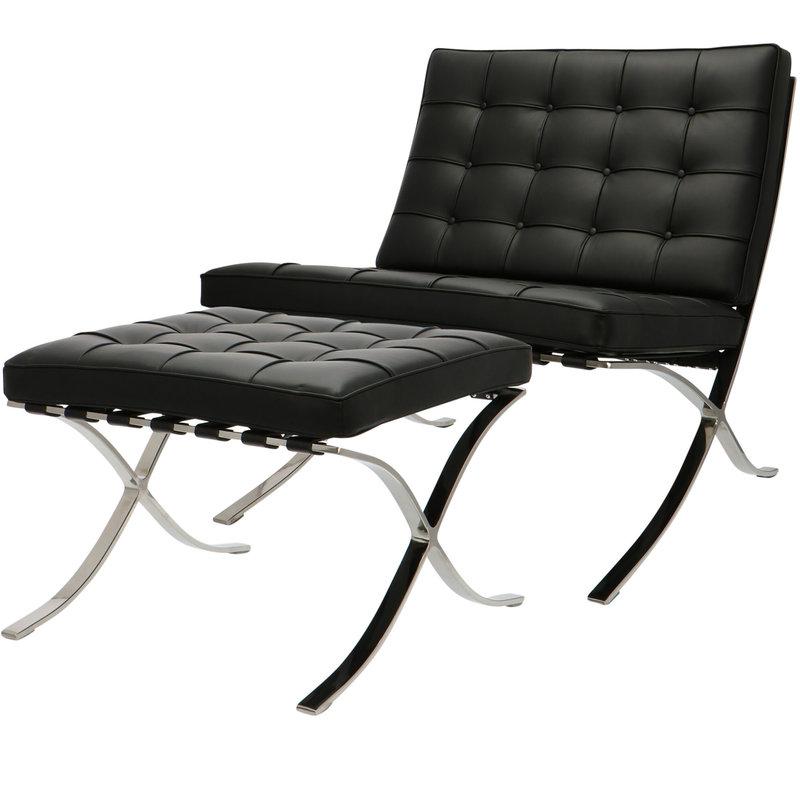 Pavilion chair Pavilion Stol Premium Sort & Ottoman
