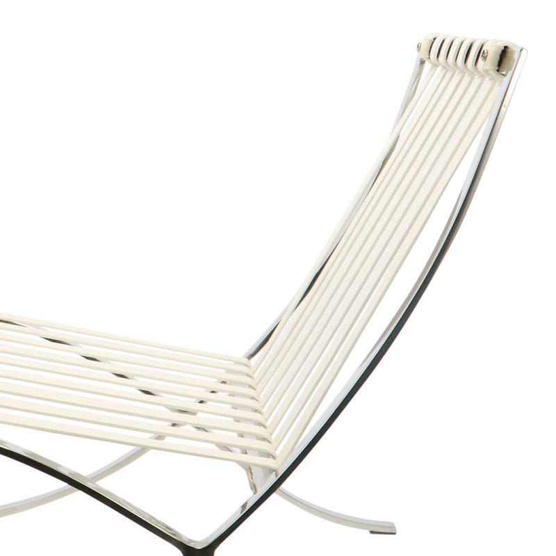 Pavilion chair Chaise Pavilion Premium Créme & Ottoman