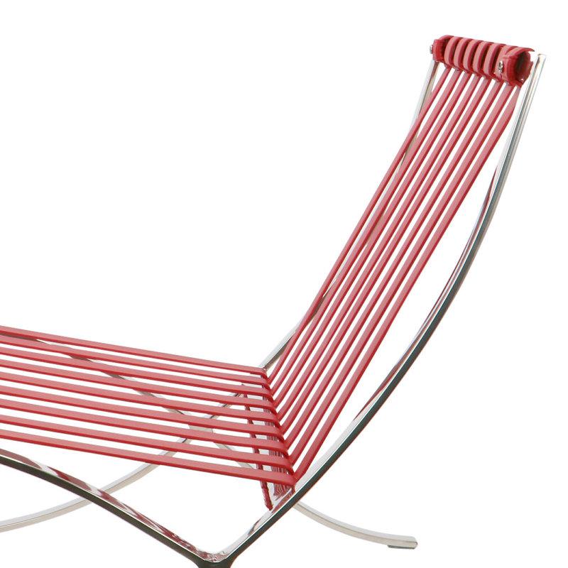 Pavilion chair Pavilion Fåtölj Premium Röd & Ottoman