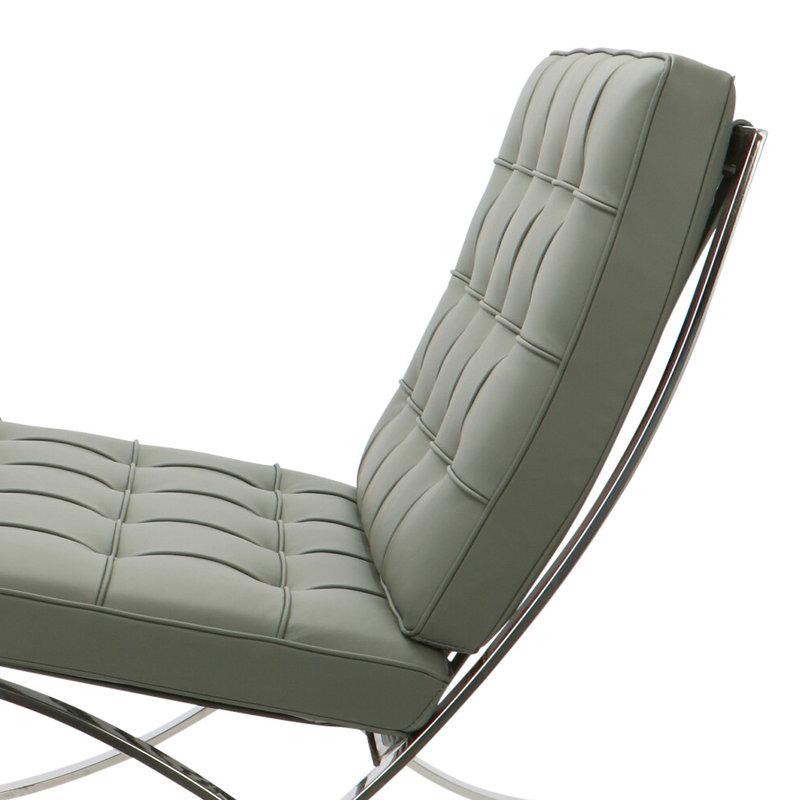 Pavilion chair Pavilion Fåtölj Premium Grå & Ottoman