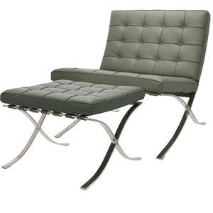 Pavilion Chair Premium Grau & Ottoman