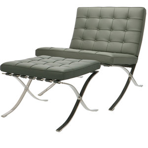 Pavilion Chair Premium Grey & Ottoman