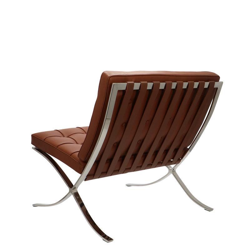 Pavilion chair Chaise Pavilion Premium Cognac & Ottoman