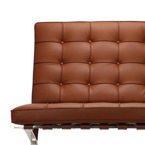 Pavilion chair Pavilion Fåtölj Premium Cognac & Ottoman