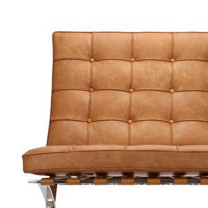 Pavilion chair Chaise Pavilion Premium Vintage Cognac & Ottoman