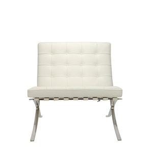 Pavilion chair Pavilion Fåtölj Premium Vit & Ottoman