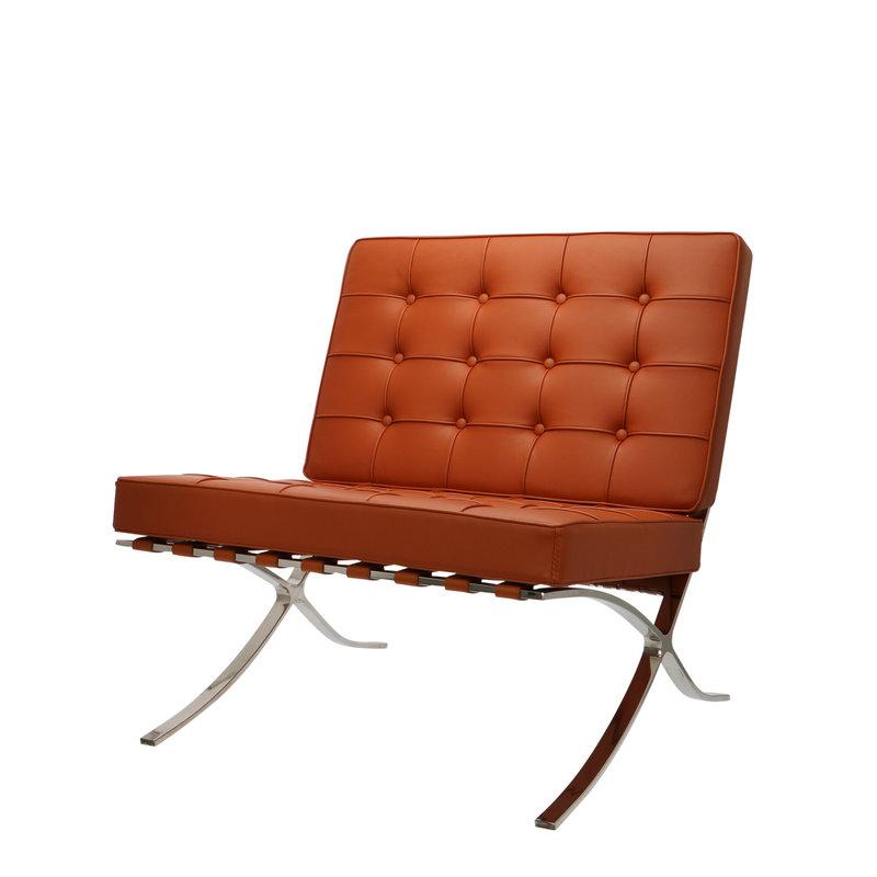 Pavilion chair Pavilion Chair Cognac & Ottoman