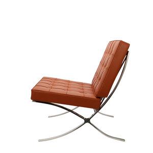 Pavilion chair Chaise Pavilion Cognac & Ottoman