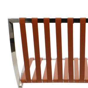 Pavilion chair Pavilion Fåtölj Cognac & Ottoman