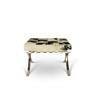 Pavilion chair ottoman cowhide black & white