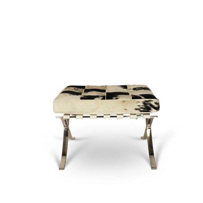 Pavilion chair Pavilion chair ottoman cowhide black & white