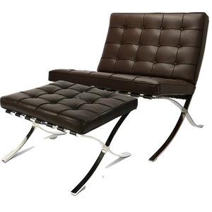 Pavilion chair Pavilion Fåtölj Premium Brun & Ottoman