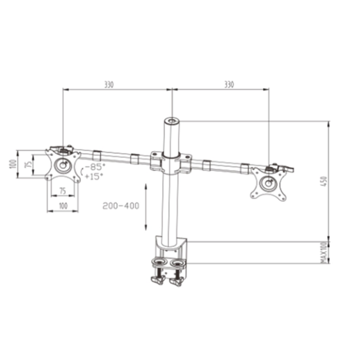 Screen-Up! Basic Double monitorarm