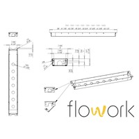 Flowork Kabelgoot Rise-Up!-zwart