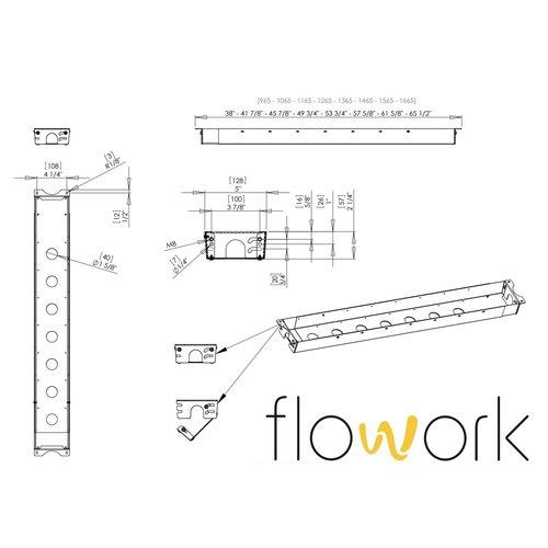 Flowork Kabelgoot Rise-Up! - Wit