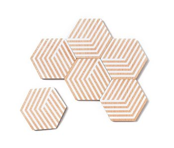 Areaware Table Tiles Optic White 6 pcs.