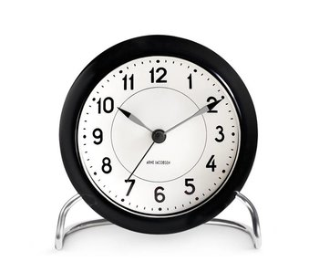 Arne Jacobsen Station Alarm Clock Black/White
