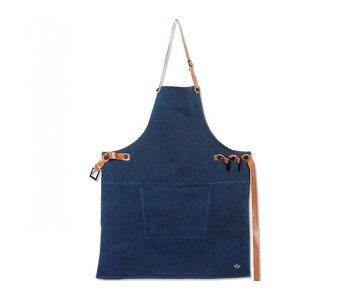Dutchdeluxes BBQ-Style Apron Canvas Dark Blue