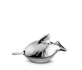 Alessi Colombina Fish Salt Cellar with Spoon