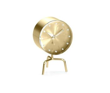 Vitra Tripod Clock Brass/Acrylic Glass