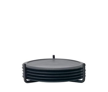 Zone Denmark Coaster W. Holder Black 6 pcs.