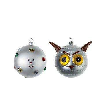 Alessi Set van 2 Kerstballen Fioccodineve & Uffoguffo