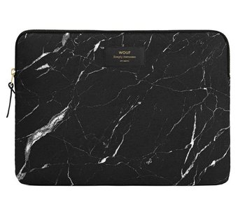 Wouf Black Marble Laptop Sleeve 13""