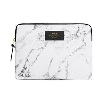 Wouf White Marble iPad Sleeve