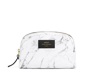 Wouf White Marble Large Beauty Bag