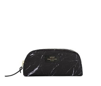 Wouf Black Marble Small Beauty Bag