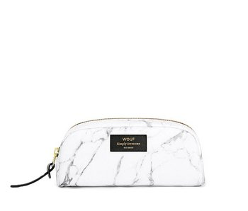 Wouf White Marble Small Beauty Bag