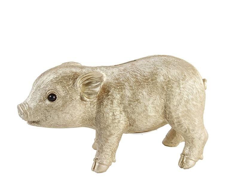 &Klevering Coinbank Pig Gold