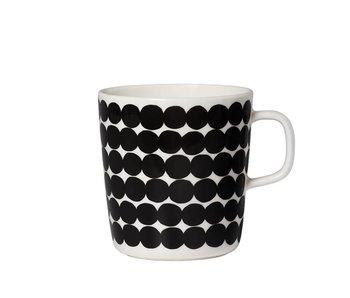 Marimekko IGC Oiva Räsymatto Mug White/Black 4 dl